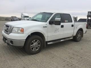 2008 Ford F150 4x4 P/U c/w 5.4L,  Auto, A/C. S/N 1FTPW14V88FA26590