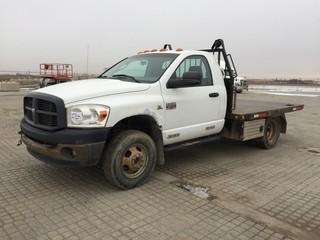 2007 Dodge Ram 3500 Deck Truck c/w Diesel, Auto, A/C, Dual Wheels. S/N 3D6WG46A67G735756