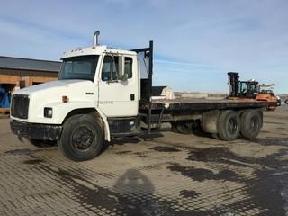 2003 Freightliner FL80 T/A Deck Truck c/w Cat 3216, Auto, A/C, Air Ride Susp., 22' Deck, 11R22.5 Tires. Showing 389,822 Kms,. S/N 1FVHBXAK23HK51022