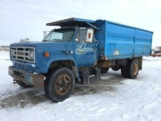 1982 GMC C6000 S/A Grain Truck c/w V8, 5+2 Trans, 16' Box. S/N 1GDG6D1B8CV572554