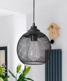 1-Light Inverted Mini Pendant-Black
