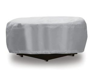 """Fire Pit Cover-Fits 1 Fire Place Up To 48"""" Diam.-Grey"""