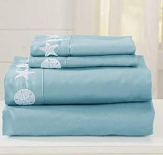 Seascapes Collection Sheet Set-Twin- Harbor Blue