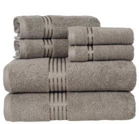 The Twillery Co. Epsom 6 Piece Cotton Towel Set CHMB2083_30779914)-Taupe
