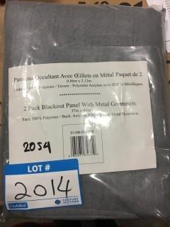 "Packs Blackout Panels w/ Metal Grommets - Grey - 37"" x 84"" - 51-356 EC2Z.03?-2 Pack"