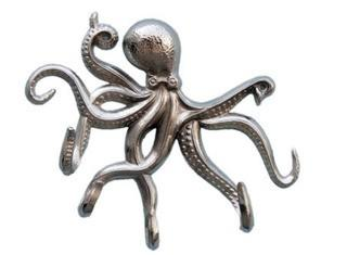 """Chrome Octopus with Tentacle Hooks 11"""""""
