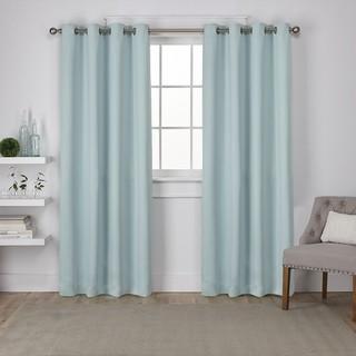 "Exclusive Home Sateen 52x96"" Window Curtain Panel Pair, Seafoam-4 Pack"