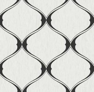 Willa Arlo Interiors Bourget 33' x 20'' Trellis 3D Embossed Wallpaper Roll (WRLO7244_22804241)-Balack/White-2 Rolls