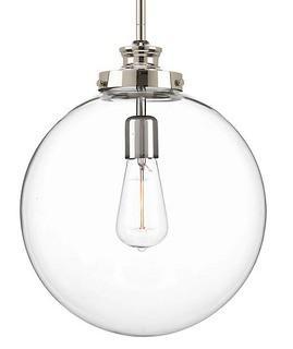 Progress Lighting?Penn Collection 1-light Polished Nickel Pendant