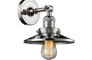 Innovations 1-Light Scone- 203-PN-Polished Nickel