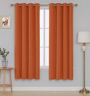 """Blackout Curtains-Orange-52x84"""""""