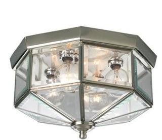 Progress Lighting - P5789-09 - Four Light Flush Mount-Brushed Nickel