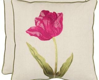 Safavieh Meadow Fuchisa FLORALS Pillow - PIL892A-1818-SET2