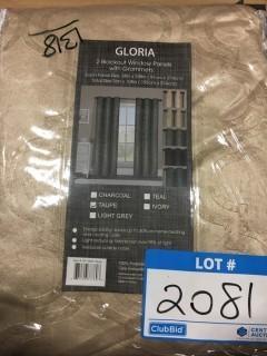 """Gloria 4 Black Out Panels-Taupe-38x108""""ea."""