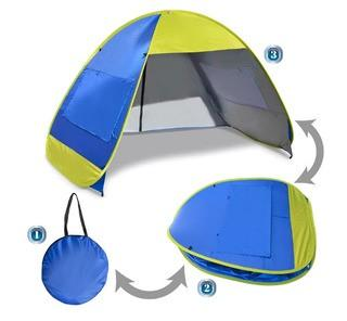 Sunrise Outdoor LTD Instant Pop Up Beach Tent Portable Canopy Sports Sun Shade Outdoor Hiking Travel Camping Napping 4 Person Shelter (SNRO1235)-50'' H x 91'' W x 54'' D