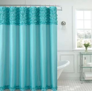 Viv + Rae Hepner Spa Shower Curtain (VVRE5009_31380629)-Aqua
