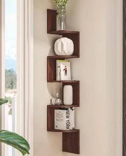 Wade Logan Ridgeway Corner Wall Shelf (WADL1534_14956688) Walnut