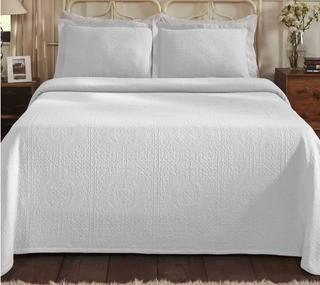 Fleur De Lis Living Bradsher Cotton Matelasse Comforter Set (FDLL9518_26349898_26349905)King, White