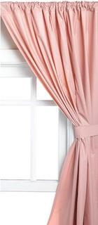 Carnation Home Fashions Vinyl 2 Bathroom Window Curtains With Tie Backs, Rose 36x45""