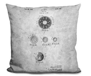 Williston Forge Catalano Golf Ball Blueprint Throw Pillow (WLFR7593)16x16""