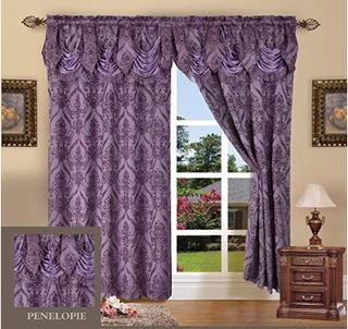 Astoria Grand Heideman Damask Room Darkening Rod Pocket Curtain Panel (ASGA2230_33089916)Purple, 54x84""
