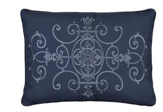 Vue Signature Bensonhurst Embroidered Decorative Pillow 13x18""