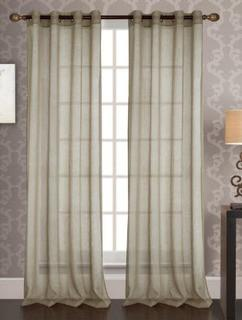 Ophelia & Co. Afiya Solid Sheer Grommet Single Curtain Panel (OPCO5299_24691461) Taupe 53x90""