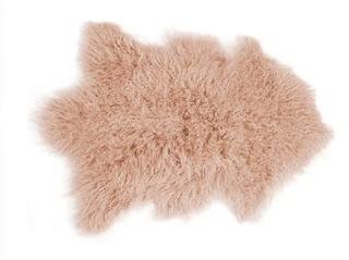 Rockwall Faux Sheepskin Dusty Rose Area Rug 2x3'