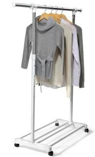 "Essential Needs Expendable Mobile Garment Rack-As Is- 36-62""Wide, 40-68""High, 16.5""Deep"