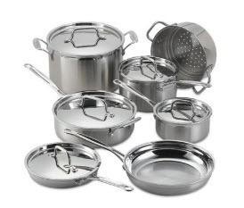Cuisinart Professional Series Tri-Ply Stainless 11Pc Set-As Is!!!
