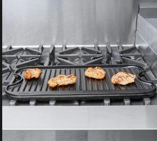 Lodge Cast Iron Reversible Griddle/Grill-As Is