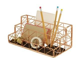 Design Ideas Wire Trace Desk Organizer, Copper (3459276)