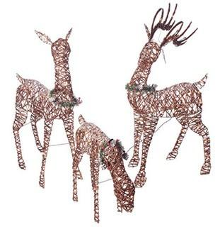 Home Accents Holiday Lighted Deer-Set Of 3/210 Clear Lights