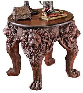 Design Toscano Lord Raffles Lion Leg End Table (TXG1206)