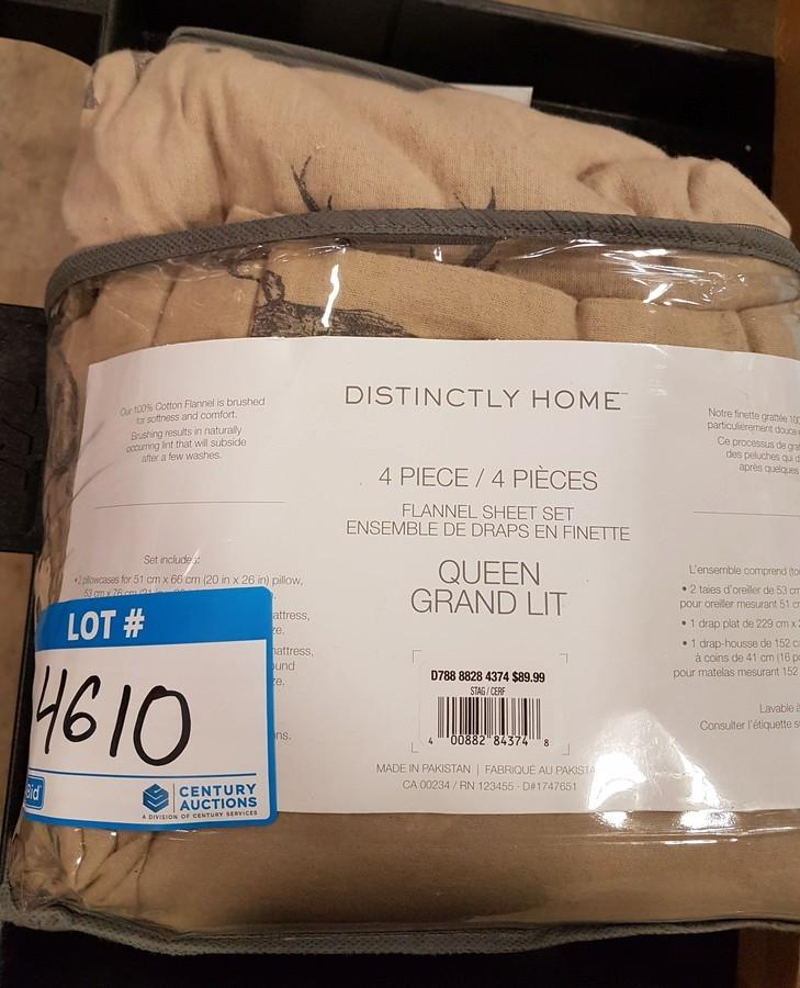 Clubbid Auction Toronto On February 11 Unreserved Timed Online Auction Bidding Starts At 1 Home Decor Electronics Luggage Patio Yard Inventory Item Distinctly Home 4pc Flannel Sheet Set Queen Beige Stag