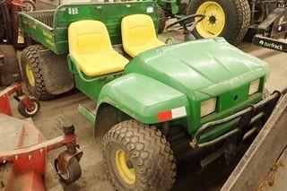 John Deere Gator Utility Vehicle. Showing 1,292hrs. SN W004X2X038465.