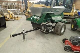 Turfco Widespin 1550 Tow Behind Engine Driven Broadcaster Top Dresser.