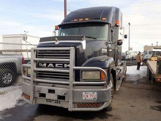 1995 Mack CH613 Tandem Axle Truck Tractor. Mack E7-427 Diesel Engine, 10-Speed Manual Transmission, Sleeper, ProHeat Auxiliary Heater, Air Ride Suspension, 11R24.5 Tires, 51,000Kg GVWR. Showing 744,335kms and 2,412hrs. CVIP Expires 05/19. VIN 1M2AA18Y1SW051990.