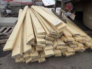 Lot of 2x6 Painted Boards and Fence Posts.