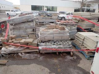 Lot of Approx. 13 Pallets Asst. Interlocking Retaining Blocks, Paving Stones and Sidewalk Block.
