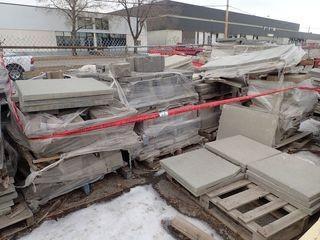 Lot of Approx. 15 Pallets Asst. Interlocking Retaining Blocks, Paving Stones and Sidewalk Block.