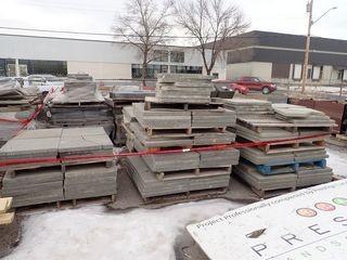 Lot of Approx. 19 Pallets Asst. Interlocking Retaining Blocks, Paving Stones and Sidewalk Block.
