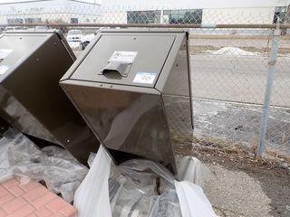 Haul-All Equipment Hid-A-Bag Waste Bin.