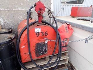 Weststeel Diesel Slip Tank w/ Fill-Rite Manual Rotary Pump.