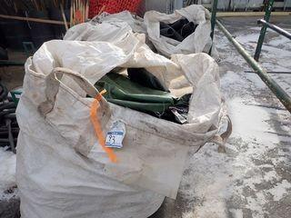 Lot of 2 Totes and 2 Rolls Weeping Tile and 2 Bags Slow Release Watering Bags.