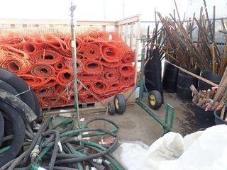 """Lot of 2 Mobile Commercial Tripod Sprinklers and 2 1/2"""" Heavy Duty Hose w/Couplers."""