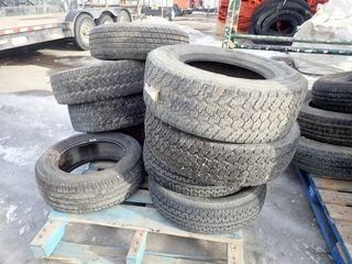 Lot of 4 Goodyear Wrangler 255/70R16 Tires and 4 Michelin 225/55R15 Tires.