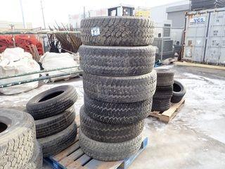 Lot of 6 Goodyear Wrangler 255/70R16 Tires.