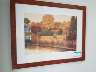 "29""x36"" Haist Landscape Print w/ Wood Frame"