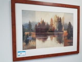 "32""x43"" Haist Landscape Print w/ Wood Frame"